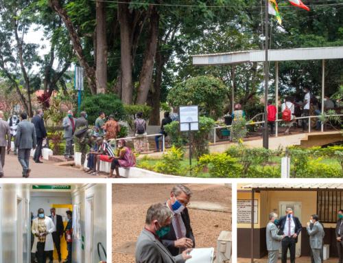 15 Septembre 2020 – Visite de l'Ambassadeur de France Jean-Marc GROSGURIN à l'Institut Pasteur de Bangui