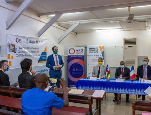 7 décembre 2020 – 524 millions de francs CFA pour renforcer la mission d'urgence de l'Institut Pasteur de Bangui dans la lutte contre la pandémie de covid-19